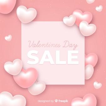 Fondo di vendita di san valentino