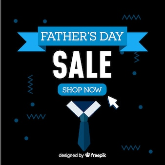 Fondo di vendita giorno piatto del padre