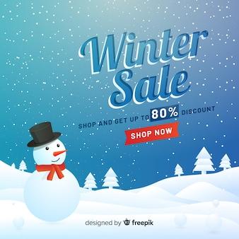 Fondo di vendita invernale realistico