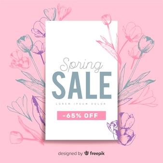 Fondo di vendita primavera piatta