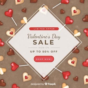 Fondo di vendite di san valentino dolci