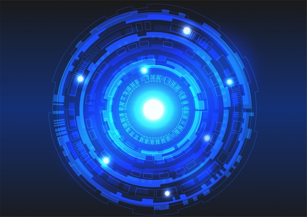 Fondo di vettore dei cerchi di tecnologia per il concetto di tecnologia digitale