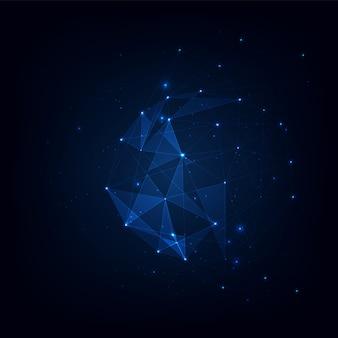 Fondo di vettore del plesso di poligoni collegati, visualizzazione di dati di background del plesso di poligoni collegati. illustrazione vettoriale