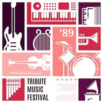 Fondo di vettore dell'estratto di festival di musica