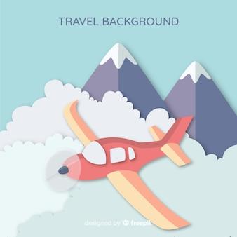 Fondo di viaggio di arte di carta