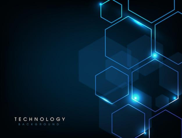Fondo digitale di tecnologia astratta blu