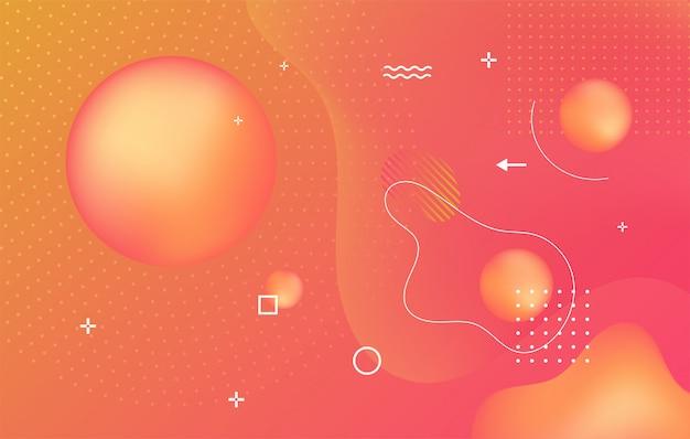 Fondo dinamico di struttura con il concetto moderno di forme fluide. disegno geometrico creativo. composizione di forme sfumate alla moda.