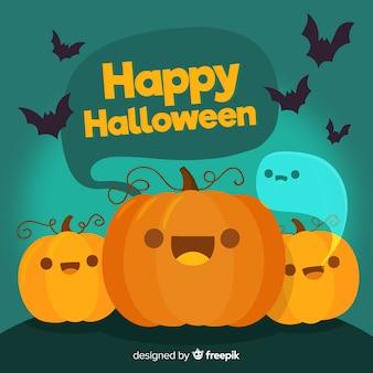 Fondo disegnato a mano adorabile di halloween