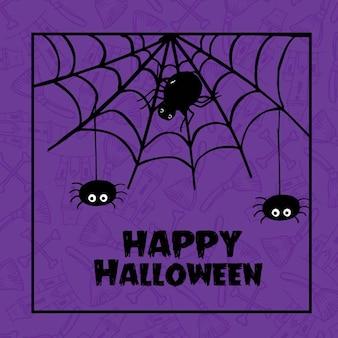 Fondo disegnato a mano del modello di halloween