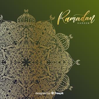 Fondo disegnato a mano del ramadan