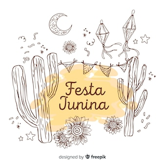 Fondo disegnato di festa junina