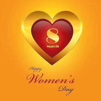 Fondo dorato del giorno delle donne