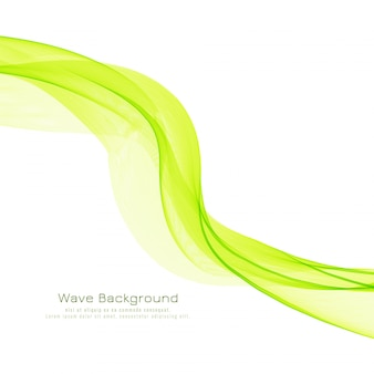 Fondo elegante decorativo dell'onda verde astratta