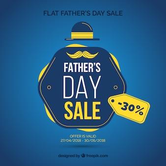 Fondo elegante di vendita di giorno di padri