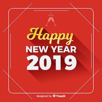 Fondo felice decorativo del nuovo anno 2019