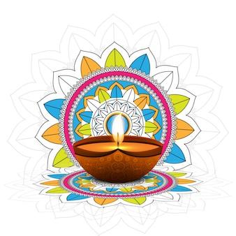 Fondo felice decorativo di celebrazione di festival di diwali