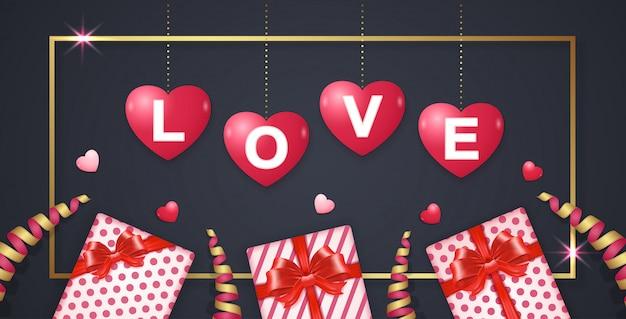 Fondo felice del modello dell'insegna di san valentino