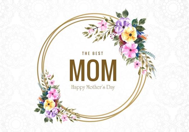 Fondo felice della cartolina d'auguri del fiore di festa della mamma