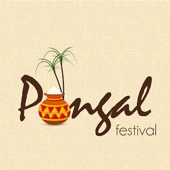 Fondo felice di festival di pongal - vettore