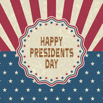 Fondo felice di presidenti day di lerciume, retro stile