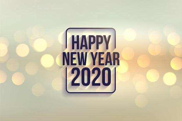 Fondo felice di stile del bokeh del buon anno 2020