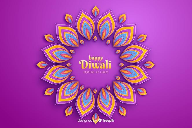 Fondo festivo di celebrazione degli ornamenti di diwali