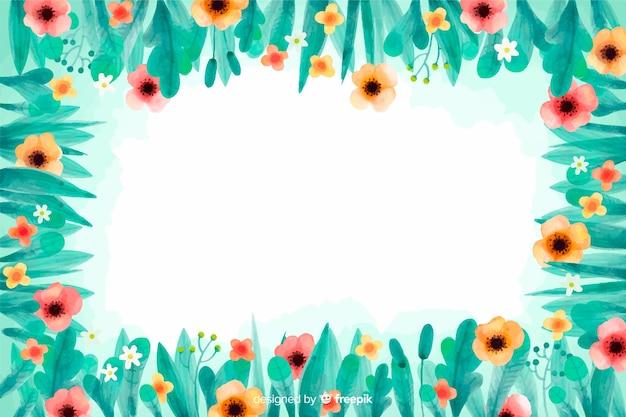 Fondo floreale dell'acquerello dei fiori gialli e rosa