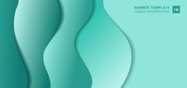 Fondo fluido di verde di forma dell'insegna astratta del modello