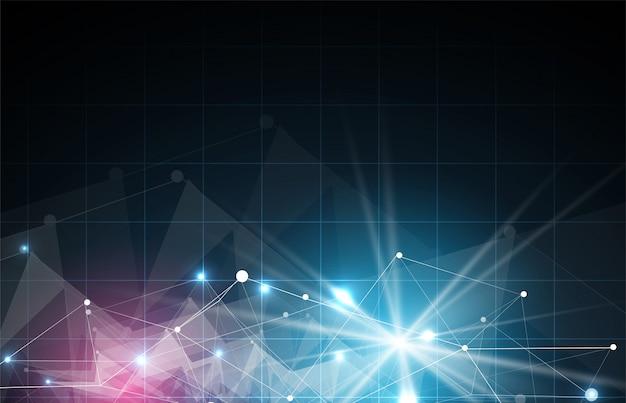 Fondo futuristico astratto di affari di tecnologie informatiche di dissolvenza