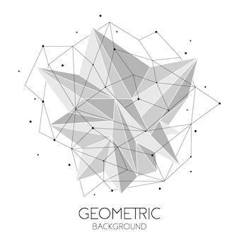 Fondo futuristico astratto poligonale, basso poli