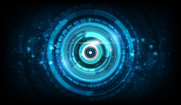Fondo futuristico dell'innovazione di tecnologia di sci fi astratto del cerchio