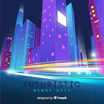 Fondo futuristico della strada di città