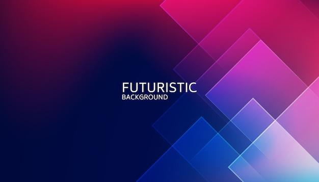 Fondo futuristico di forma geometrica blu astratta