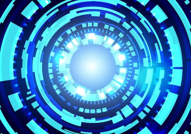 Fondo futuristico di vettore di tecnologia hud. priorità bassa di concetto di grandi dati.
