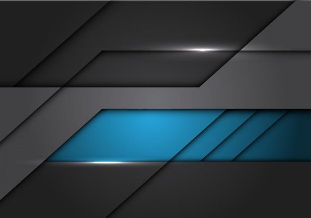 Fondo futuristico moderno del circuito metallico grigio blu.