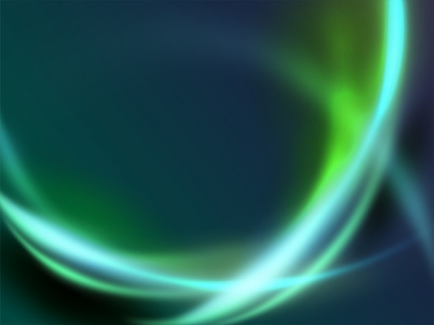 Fondo futuristico moderno della curva di energia della luce dell'onda dinamica verde astratta