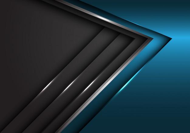 Fondo futuristico moderno di progettazione di sovrapposizione di lusso metallica dell'oro grigio blu astratto.