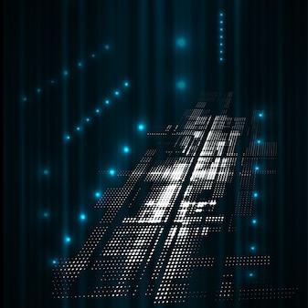 Fondo futuristico scuro astratto di affari di tecnologia di dissolvenza