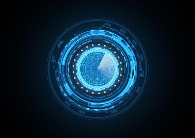 Fondo futuro astratto del radar del cerchio di tecnologia