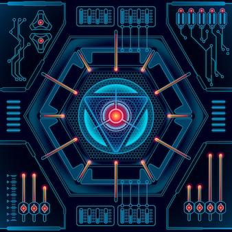 Fondo futuro astratto di concetto di tecnologia