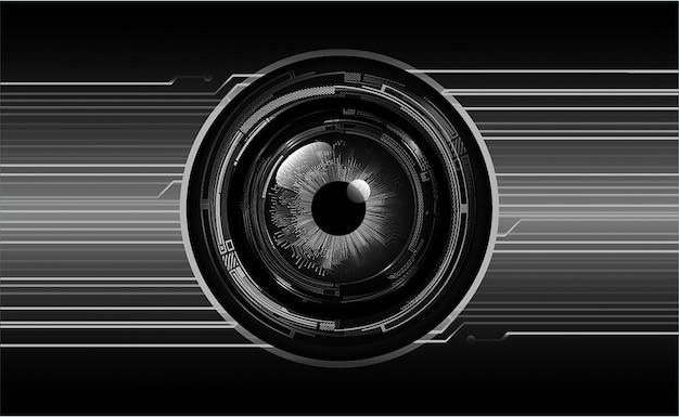 Fondo futuro di concetto di tecnologia del circuito cyber dell'occhio azzurro
