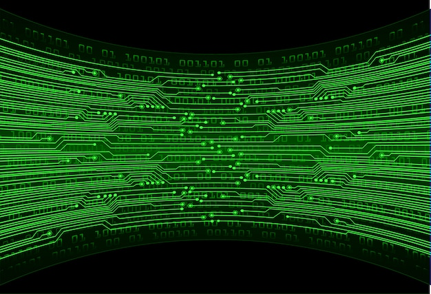 Fondo futuro di concetto di tecnologia del circuito cyber verde