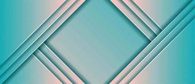 Fondo geometrico astratto dell'insegna di pendenza moderna