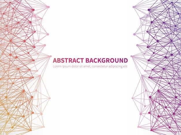 Fondo geometrico astratto di vettore con struttura molecolare colorata