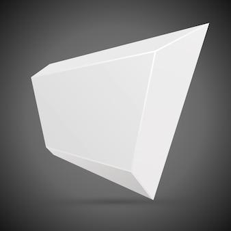 Fondo geometrico astratto di vettore del fumetto 3d