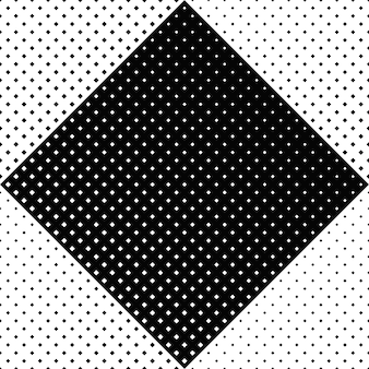 Fondo geometrico bianco e nero senza cuciture del modello quadrato
