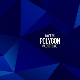 Fondo geometrico del poligono blu astratto