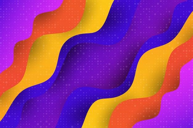 Fondo geometrico dell'estratto di vettore dell'elemento di progettazione moderna della curva liquida multipla di colore