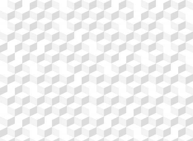 Fondo geometrico grigio del modello di pendenza quadrata astratta del cubo.