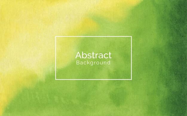 Fondo giallo e verde morbido astratto di struttura dell'acquerello